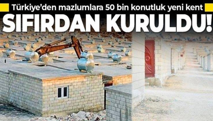 Türkiye sıfırdan yeni bir şehir kurdu: İdlib'de 50 bin konutluk kent