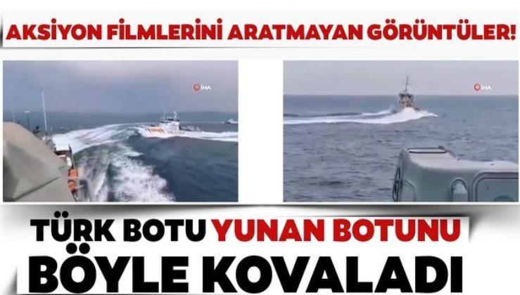 Türk Sahil Güvenlik ekipleri Yunan botunu böyle kovaladı