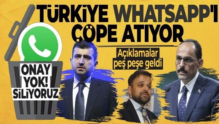 '#WhatsAppSiliyoruz' kampanyası çığ gibi büyüyor!