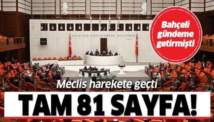 Meclis'te idam cezası mesaisi! Tam 81 sayfalık rapor!