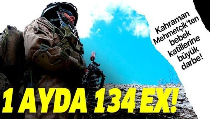Son dakika: MSB duyurdu: Bir ayda 134 terörist etkisiz hale getirildi