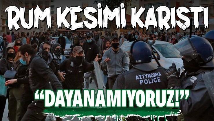 Güney Kıbrıs karıştı! Anastasiadis'e öfkelenen Rumlar sokaklara döküldü