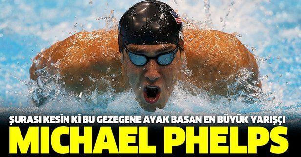 Şurası kesin ki bu gezegene ayak basan en büyük yarışçı: Michael Phelps