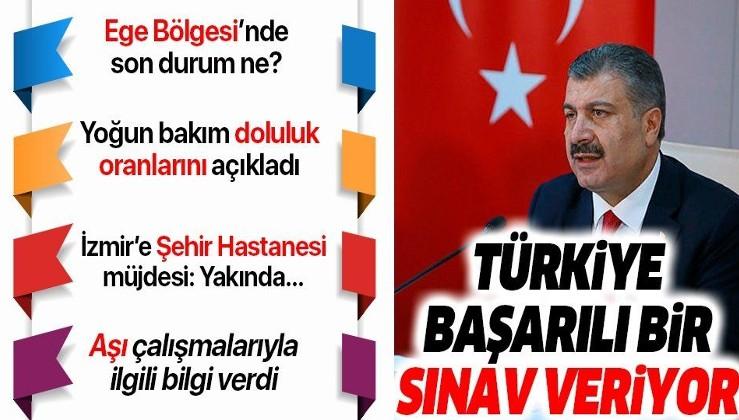 Sağlık Bakanı Fahrettin Koca'dan İzmir'de önemli açıklamalar
