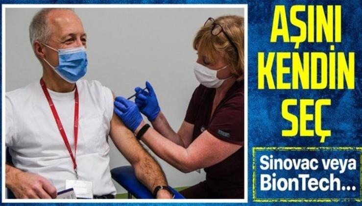 Vatandaşlar, Sinovac veya BionTech aşısından hangisini isterse onu yaptıracak