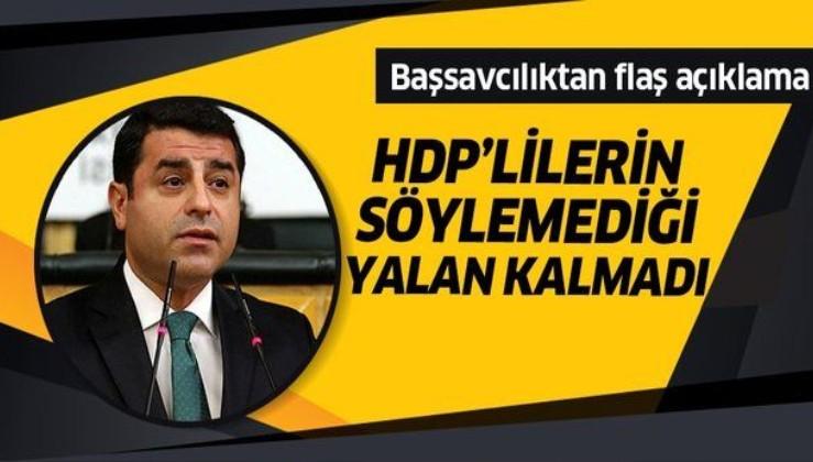 Başsavcılık'tan Demirtaş iddialarına ilişkin açıklama!.