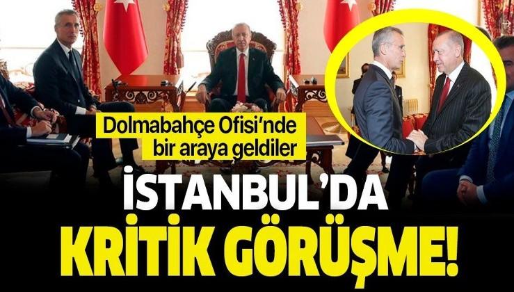 Son dakika: Erdoğan ile Stoltenberg arasında kritik görüşme!.