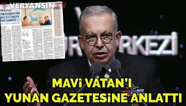 Cihat Yaycı Yunan Kathimeniri gazetesine Mavi Vatan'ı anlattı