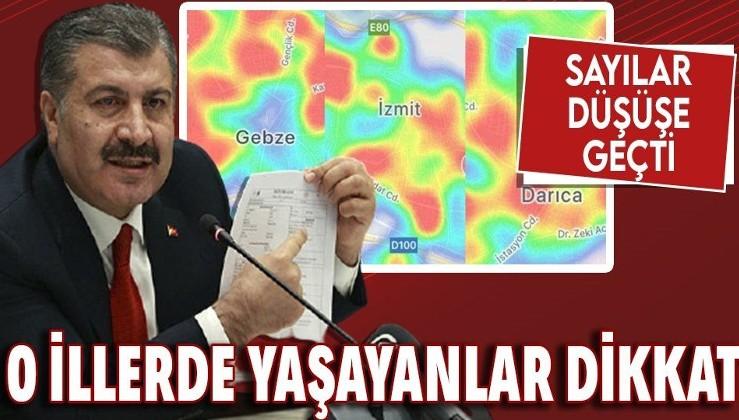Sağlık Bakanı Fahrettin Koca sosyal medyadan paylaştı! O illerde sayılar düşüşe geçti