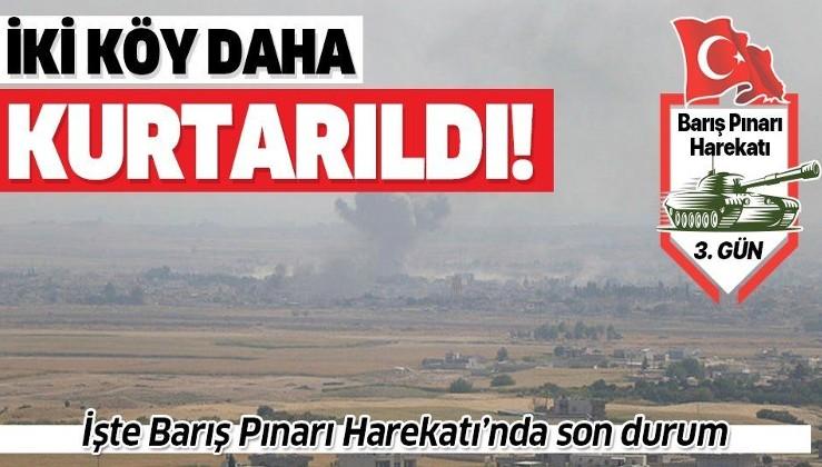 Son dakika: Barış Pınarı Harekatı'nda yeni gelişme! İki köy daha teröristlerden temizlendi.