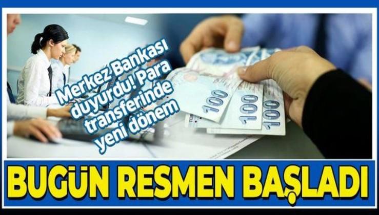 SON DAKİKA: Merkez Bankası açıkladı: Fonların Anlık ve Sürekli Transferi (FAST) kullanıma açıldı