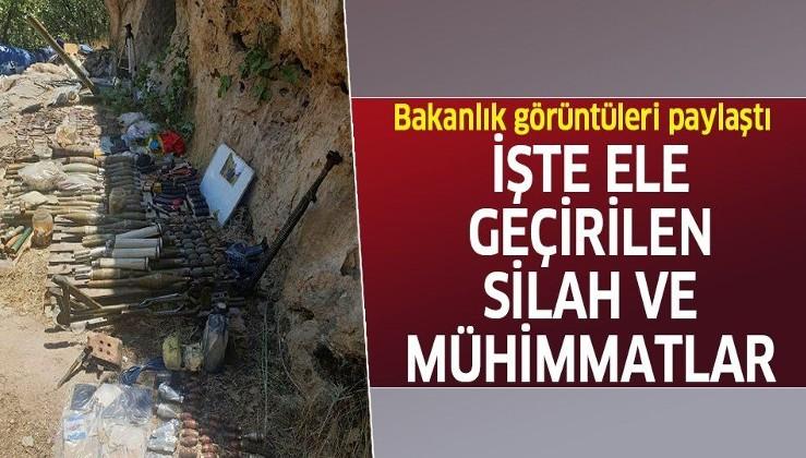 Son dakika: MSB duyurdu: Pençe-Kaplan Operasyonu'nda PKK'lı teröristlerin silah ve mühimmatı ele geçirildi