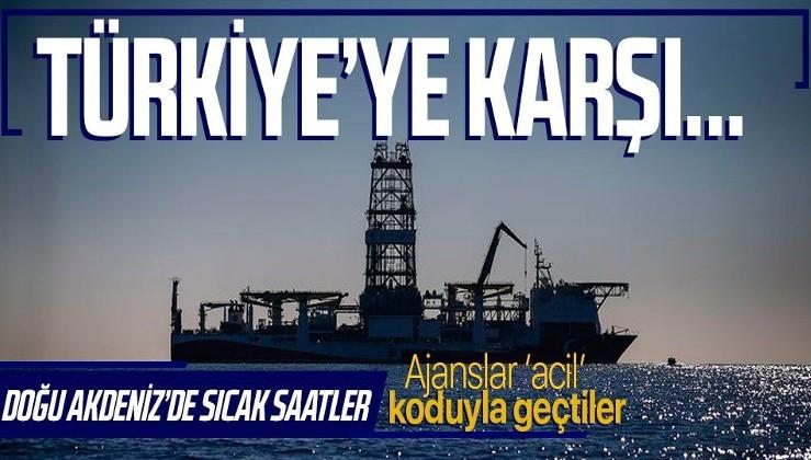 Doğu Akdeniz'de sıcak saatler! Ajanslar 'acil' koduyla duyurdu! Yunanistan ve İsrail Türkiye'ye karşı...