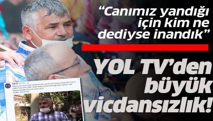 Havai fişek fabrikası mağduru Salih Çelik'ten, acısını provoke eden Yol TV muhabirine dava