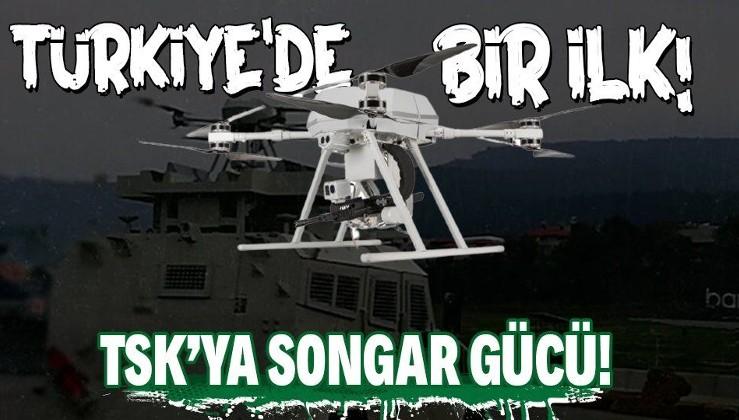 Milli silahlarda bir ilk! Silahlı drone Songar askeri kara aracına entegre edildi!