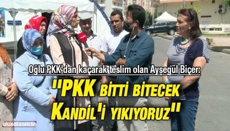 Oğlu PKK'dan kaçarak teslim olan Ayşegül Biçer: ''PKK bitti bitecek Kandil'i yıkıyoruz''