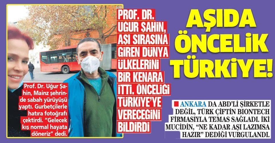 Prof. Dr. Uğur Şahin, aşı sırasına giren dünya ülkelerini bir kenara itti! Öncelik Türkiye'nin...