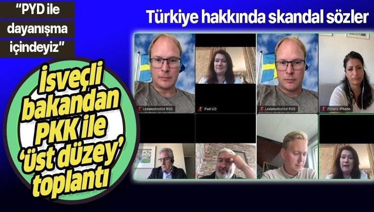 İsveç Dışişleri Bakanı Ann Linde, PKK'lı sözde üst düzey yöneticilerle toplantı yapıp isteklerini dinledi!
