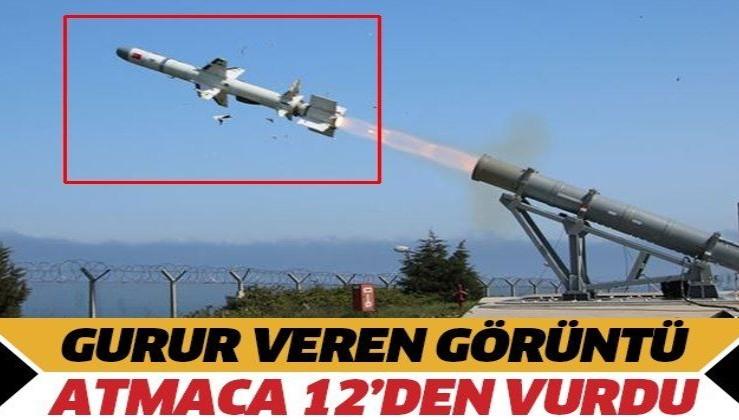 """Son dakika: Türkiye'nin ilk deniz seyir füzesi """"Atmaca"""" hedefini başarıyla vurdu"""