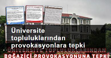 Üniversite kulüplerinden Boğaziçi provokasyonlarına tepki
