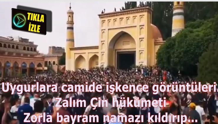 Bu da Çaytung haberi: Uygurlara camide işkence görüntüleri. Zorla bayram kutlaması