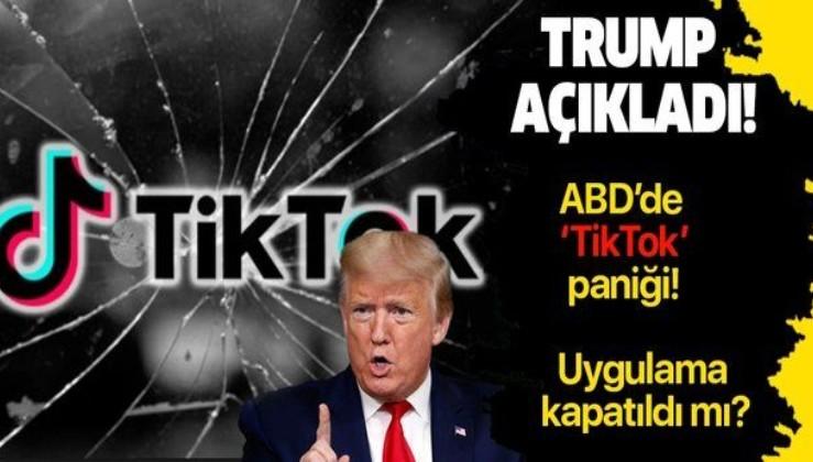 """ABD'de Trump'ın açıklaması sonrası """"TikTok"""" krizi! Kullanıcılar panikledi..."""