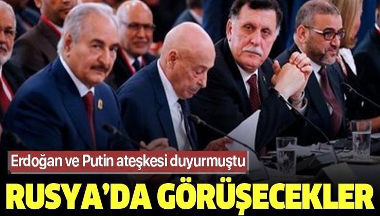 Son dakika: Libyalı taraflar Türkiye ve Rusya'nın ara buluculuğunda ateşkesi görüşecek.