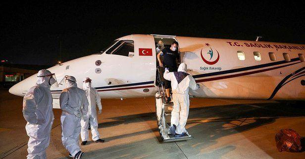 Tanzanya'da koronavirüse yakalanan 3 Türk hava ambulansıyla Türkiye'ye getirildi