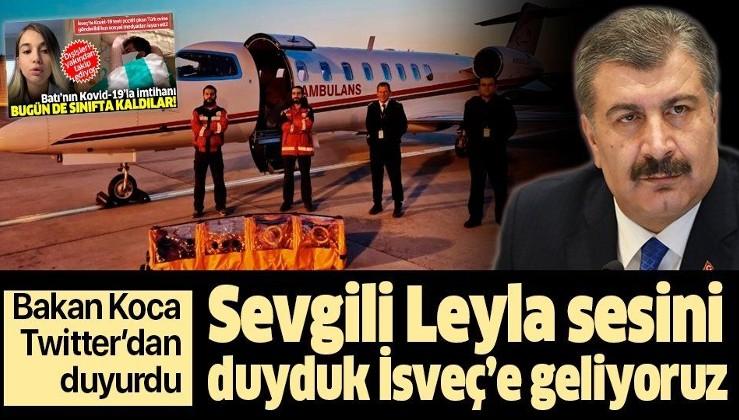 Son dakika: Bakan Koca Twitter'dan duyurdu: Sevgili Leyla sesini duyduk İsveç'e geliyoruz