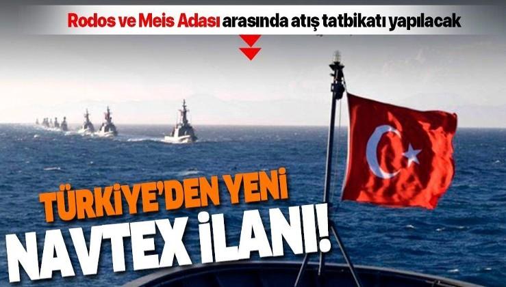 Son dakika: Türkiye, Rodos ve Meis Adası arasında atış tatbikatı için NAVTEX yayınladı