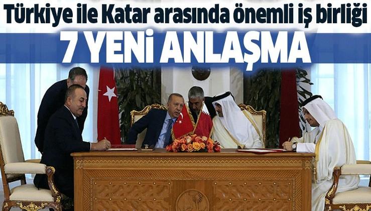 Türkiye ile Katar arasında 7 anlaşma.