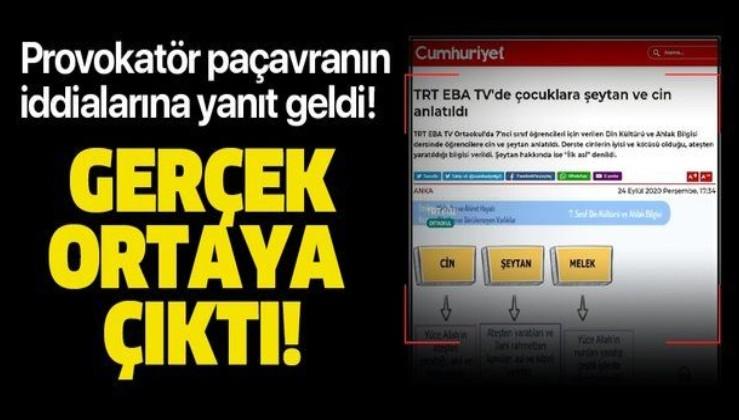 """""""EBA TV'de cin şeytan anlatıldı"""" iddialarına açıklama! Gerçek ortaya çıktı"""