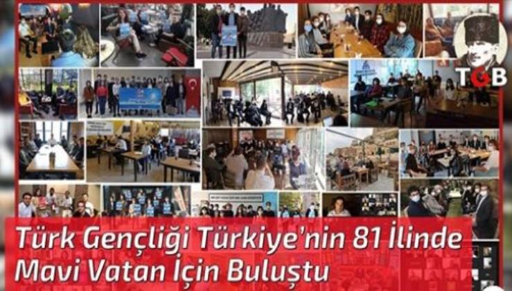 Türk Gençliği Türkiye'nin 81 İlinde Mavi Vatan İçin Buluştu