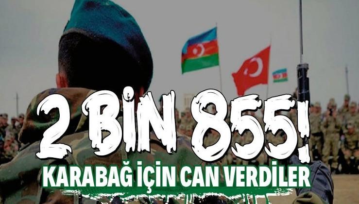 Azerbaycan Karabağ'da topraklarını işgalden kurtarmak için 2 bin 855 şehit verdi