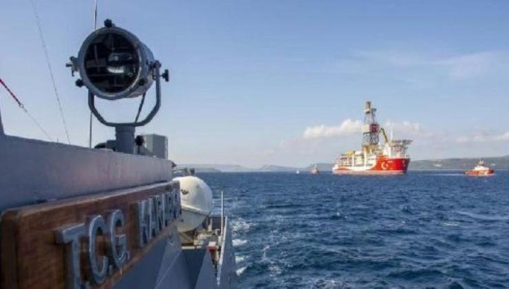 MSB duyurdu! Kanuni'ye Deniz Kuvvetlerimize ait gemiler eşlik ediyor