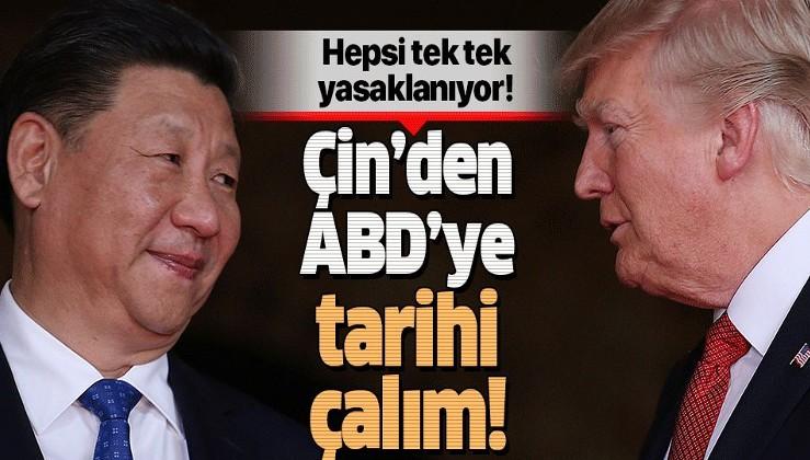 Çin'den ABD'ye karşı kritik hamle! 2022 itibarıyla yasak....