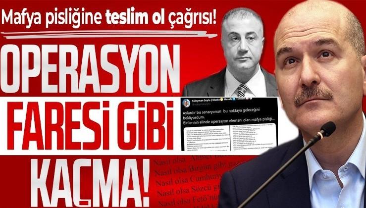 İçişleri Bakanı Süleyman Soylu'dan firari Sedat Peker'e teslim ol çağrısı: Operasyon faresi gibi kaçma