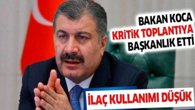 Sağlık Bakanı Fahrettin Koca, Samsun, İzmir, Denizli, Balıkesir ve Çorum il sağlık müdürleriyle görüştü
