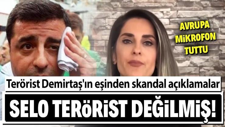 Avrupa kanalı Euronews terörist Selahattin Demirtaş'ın eşiyle röportaj yaptı! Kocasının terörist olmadığını söyledi