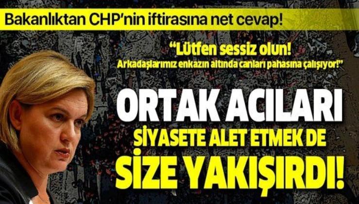 İzmir depremini siyasetlerine alet ettiler! CHP'li Selin Sayek Böke'nin çadır iftirasına İçişleri Bakanlığı'ndan net cevap!