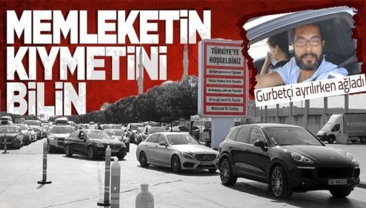 Tatili biten gurbetçi Türkiye'den ayrılırken ağladı: Memleketin kıymetini bilin