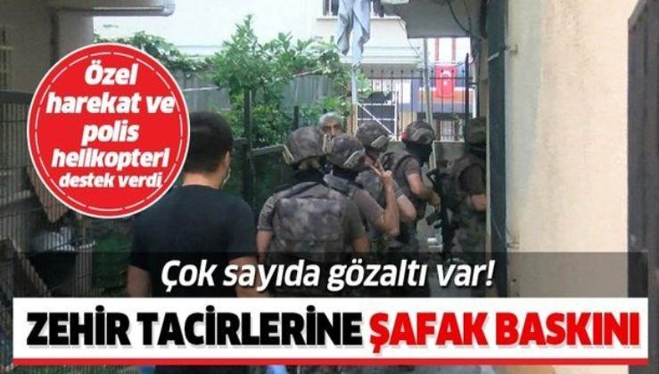 İstanbul'da uyuşturucu satıcılarına dev operasyon! Çok sayıda gözaltı var!