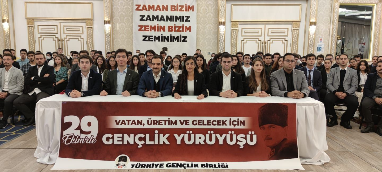 """TGB'den 29 Ekim'de Anıtkabir'e """"Gençlik Yürüyüşü"""""""