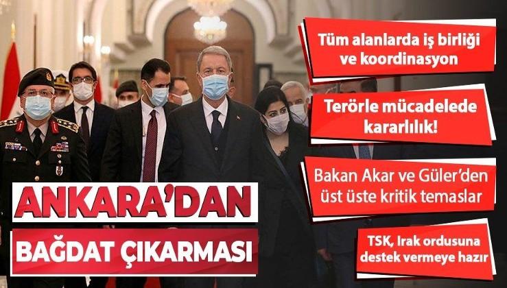 Türkiye'den kritik Irak teması! Milli Savunma Bakanı Hulusi Akar, Berhem Salih ve Kazımi ile bir araya geldi