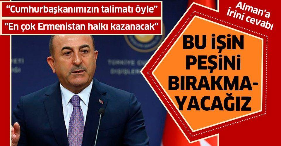 Son dakika   Dışişleri Bakanı Mevlüt Çavuşoğlu: Süreç normalleşirse en çok Ermenistan halkı kazanacak