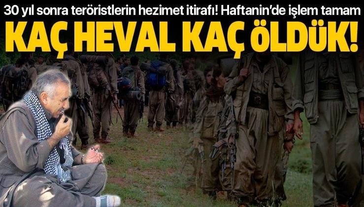 Pençe-Kaplan'la Haftanin'de PKK'ya ağır darbe: Kaç heval kaç