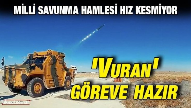 Çok namlulu roketatar Vuran TSK'nın emrinde