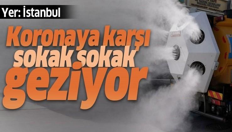 İstanbul sokaklarında resmen başladı! Koronavirüse karşı...