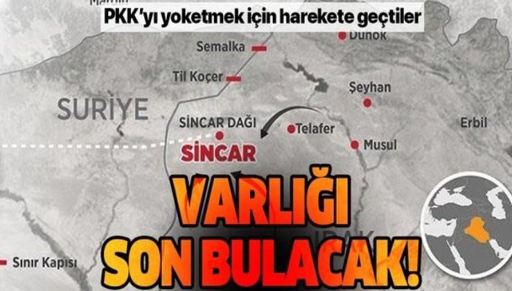 Sincar ve bölgesinde PKK'yı bitirmek için Irak'tan önemli adım!