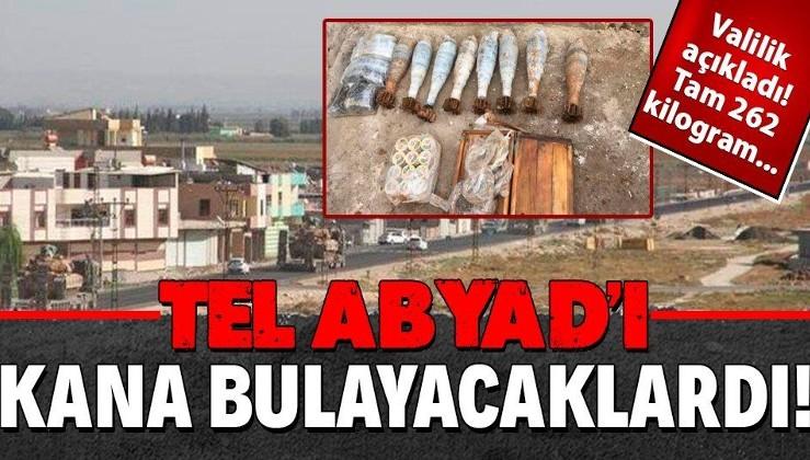 Suriye'nin Tel Abyad ilçesinde 262 kilo 500 gram patlayıcı ele geçirildi